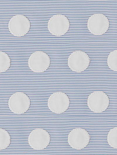 BUBBLE APPLIQUE BLUE/WHITE