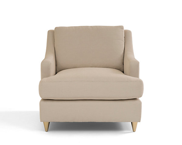 Abbey Club Chair With Brass