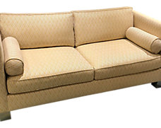 Addison Sofa With Brass Legs