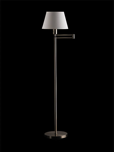 HANSEN DB SWING-ARM FLOOR LAMP MATTE NICKEL