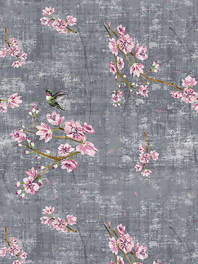BLOSSOM FANTASIA-SHEER CHARCOAL