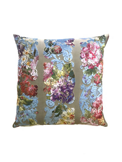 JARDIN COLBERT PILLOW BLUE SATIN