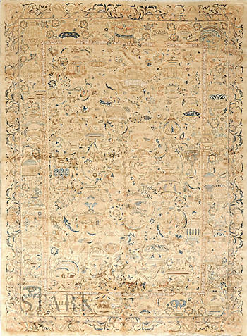 ORIENTAL KASHMAR SEMI ANTIQUE -ori-37528