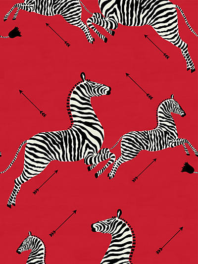 ZEBRAS - FABRIC MASAI RED