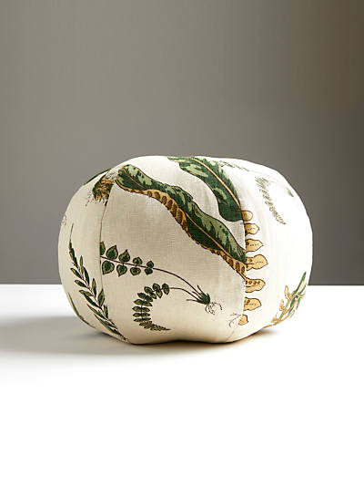 ELSIE DE WOLFE SPHERE PILLOW GREENS ON OFF-WHITE