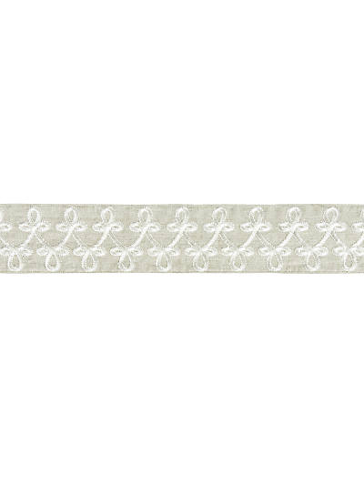EMPRESS EMBROIDERED TAPE LINEN