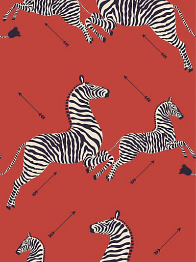 ZEBRAS - WALLPAPER MASAI RED