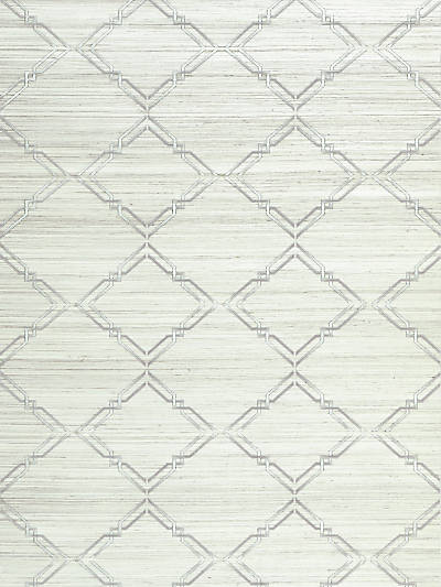 MONROE EMBROIDERED GRASSCLOTH GLACIER