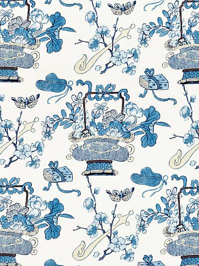 SHANGHAI BLOSSOMS CHINA BLUE