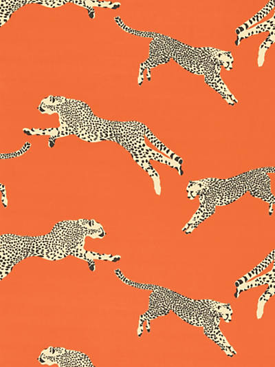LEAPING CHEETAH COTTON PRINT CLEMENTINE