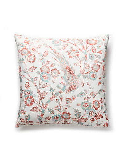 ANISSA PRINT PILLOW CORAL SPICE