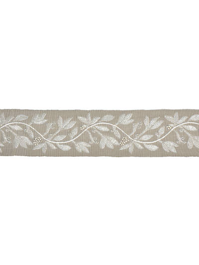 LAUREL EMBROIDERED TAPE FLAX
