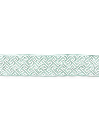 LABYRINTH EMBROIDERED TAPE AQUAMARINE