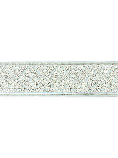 ORNAMENTAL EMBROIDERED TAPE AQUAMARINE