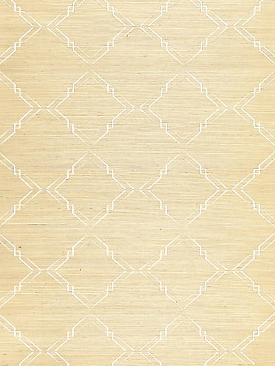 MONROE EMBROIDERED GRASSCLOTH PAPYRUS