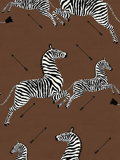 ZEBRAS - FABRIC SAFARI BROWN