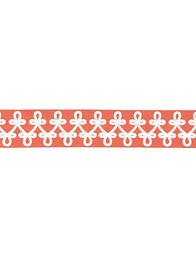 EMPRESS EMBROIDERED TAPE CORAL