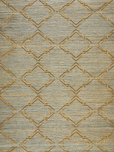 MONROE EMBROIDERED GRASSCLOTH BRONZE