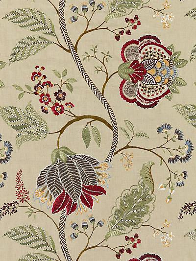 PALAMPORE EMBROIDERY CINNAMON