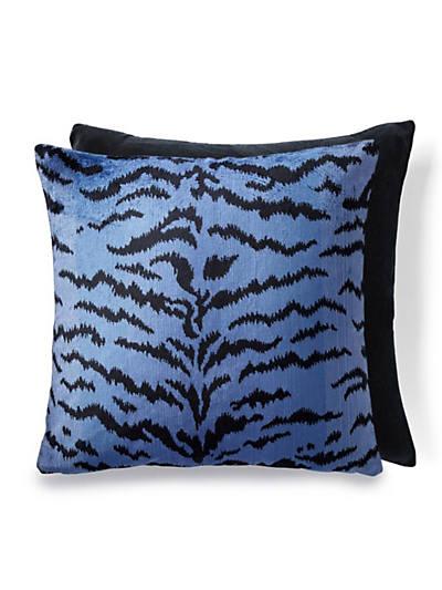 TIGRE/INDUS PILLOW BLUE & BLACK