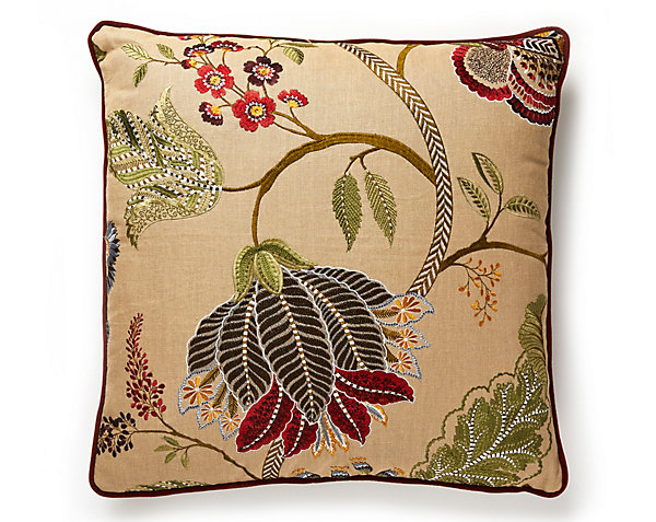 PALAMPORE EMBROIDERY PILLOW