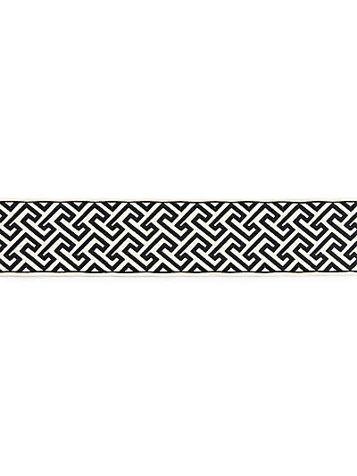 LABYRINTH EMBROIDERED TAPE NOIR