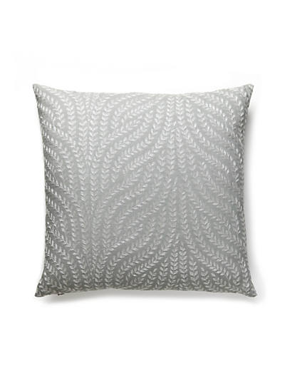 WILLOW VINE EMBROIDERY PILLOW FRENCH GREY