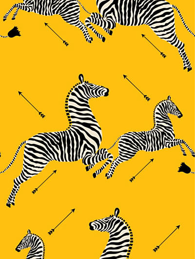 ZEBRAS - WALLPAPER YELLOW