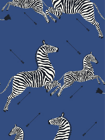 ZEBRAS - WALLPAPER DENIM