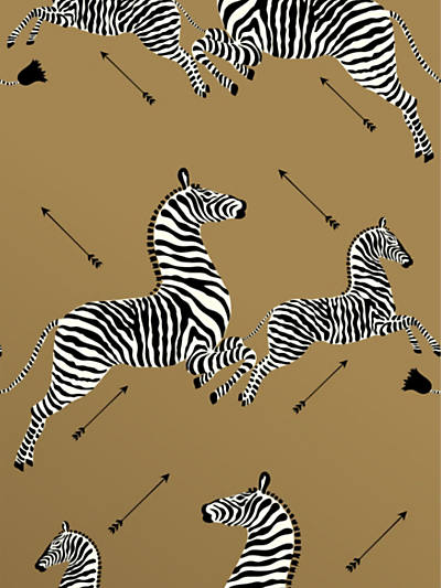 ZEBRAS - WALLPAPER GOLD
