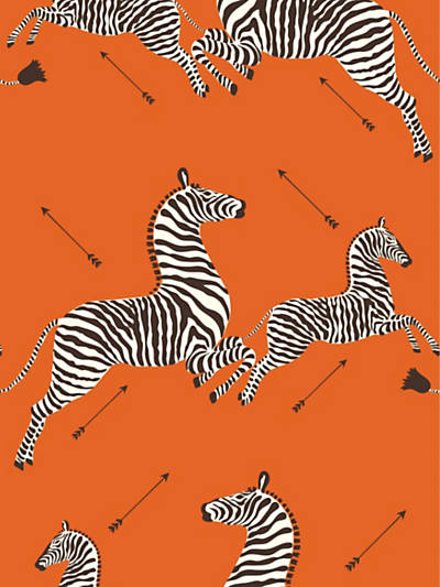 ZEBRAS - WALLPAPER ORANGE
