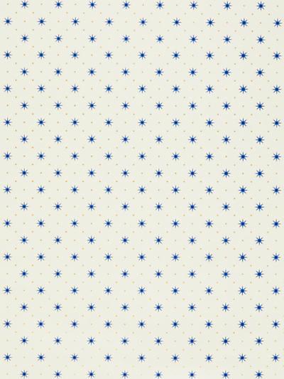 TRIXIE BLUE & GOLD ON WHITE