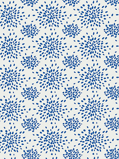 FIREWORKS BLUE ON WHITE