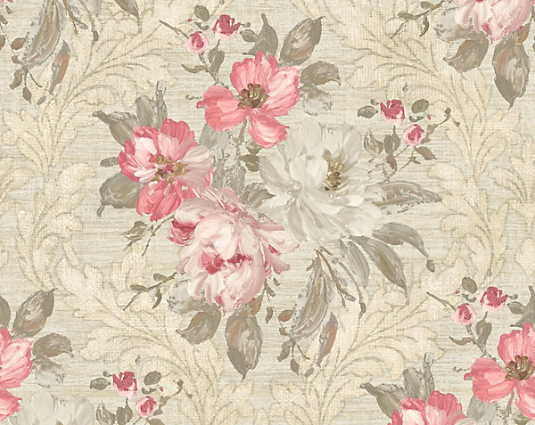 PAINTED FLOWERS DAMASK