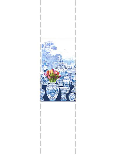 GARNITURE SCENIC - TULIPS BLUE - LEFT PANEL