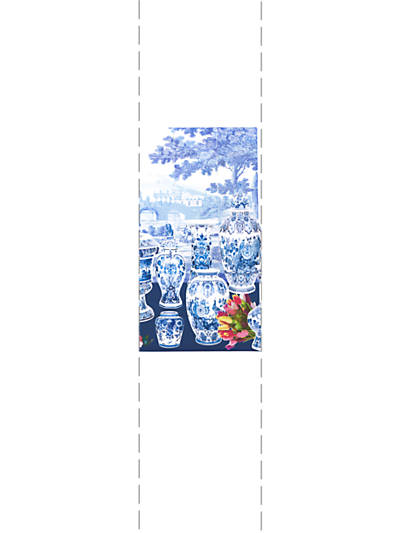 GARNITURE SCENIC - TULIPS BLUE - RIGHT PANEL