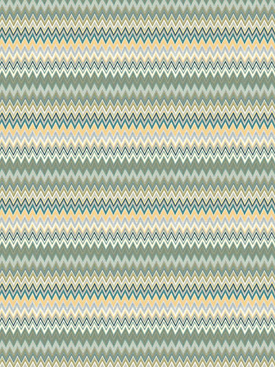 ZIG ZAG MULTI - METAL PANEL TEAL GOLD