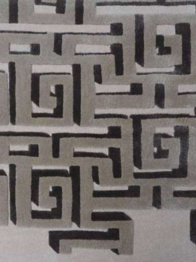 3D MAZE - GREY - BESPOKE