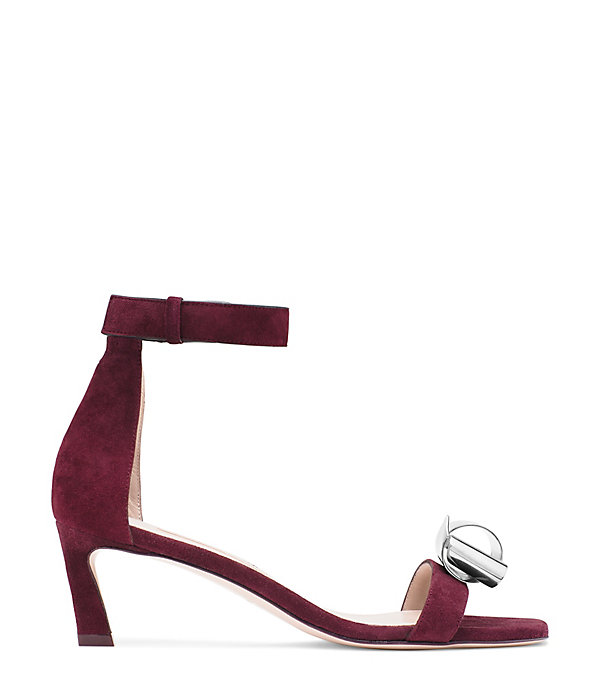 THE KNOTTED 45 SANDAL in CABERNET