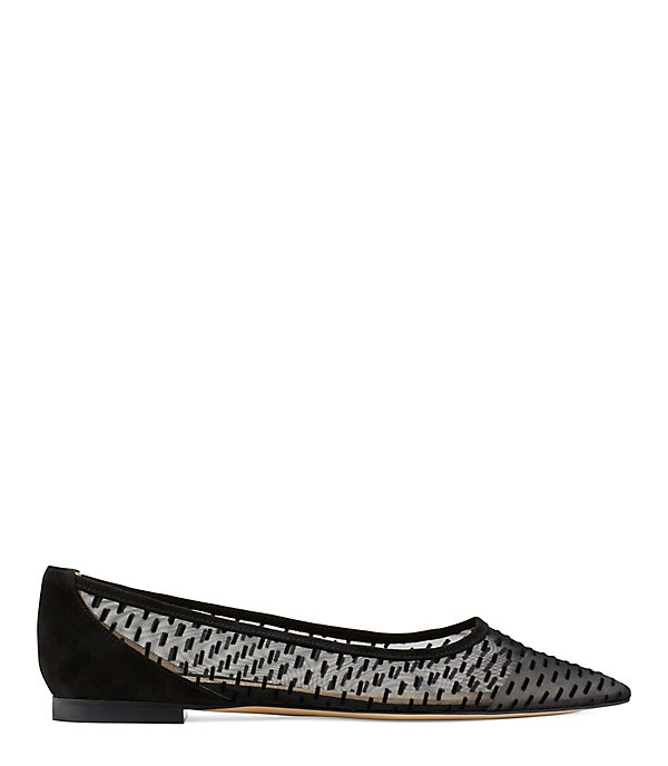 THE TASHA FLAT FLATS in BLACK