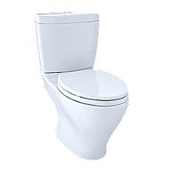 """Aquia® Dual Flush Two-Piece Toilet, 1.6GPF & 0.9GPF, 10"""" Rough-in, Elongated Bowl"""
