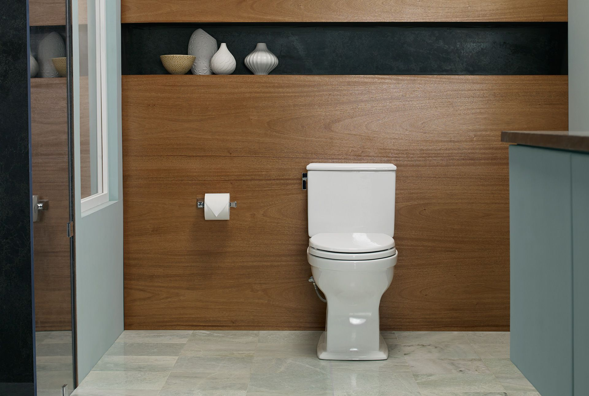 Connelly Two Piece Toilet 1 28 GPF & 0 9 GPF Elongated Bowl