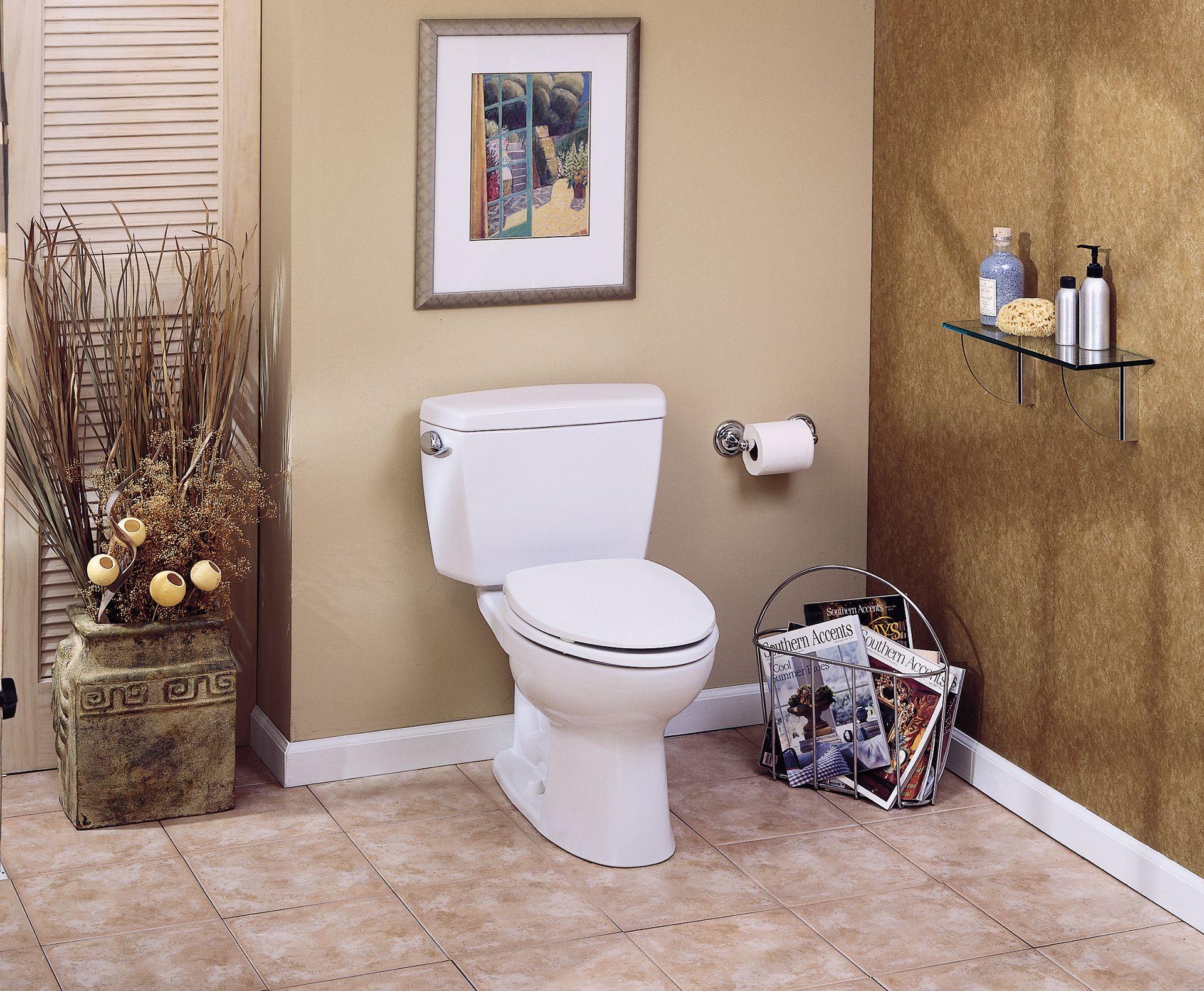 Eco Drake® Two-Piece Toilet, 1.28 GPF, ADA Compliant, Elongated ...