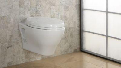 Wall Hanging Toilet aquia® wall-hung dual-flush toilet, 1.6 gpf & 0.9 gpf, elongated