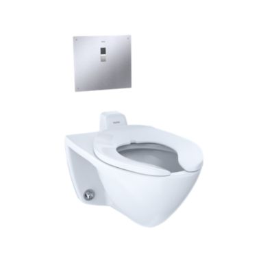 Commercial Flushometer High Efficiency Toilet, 1.28 GPF, Elongated ...