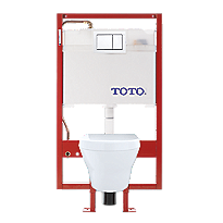 MH Wall-Hung Toilet & DUOFIT In-Wall Tank System, 1.28 GPF & 0.9 GPF, Elongated Bowl - Copper Supply