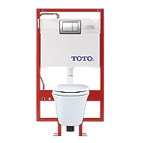 Maris® Wall-Hung Toilet & DUOFIT In-Wall Tank System, 1.6 GPF & 0.9 GPF, Elongated Bowl - Copper Supply