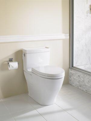 Aimes 174 One Piece Toilet 1 28gpf Elongated Bowl Totousa Com