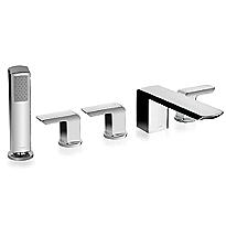 Soirée® Deck-Mount Bath Faucet with Lever Handles, Hand Shower and Diverter Trim