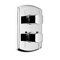 Soirée®      Thermostatic Mixing Valve Trim with Dual Volume Control and Lever Handles